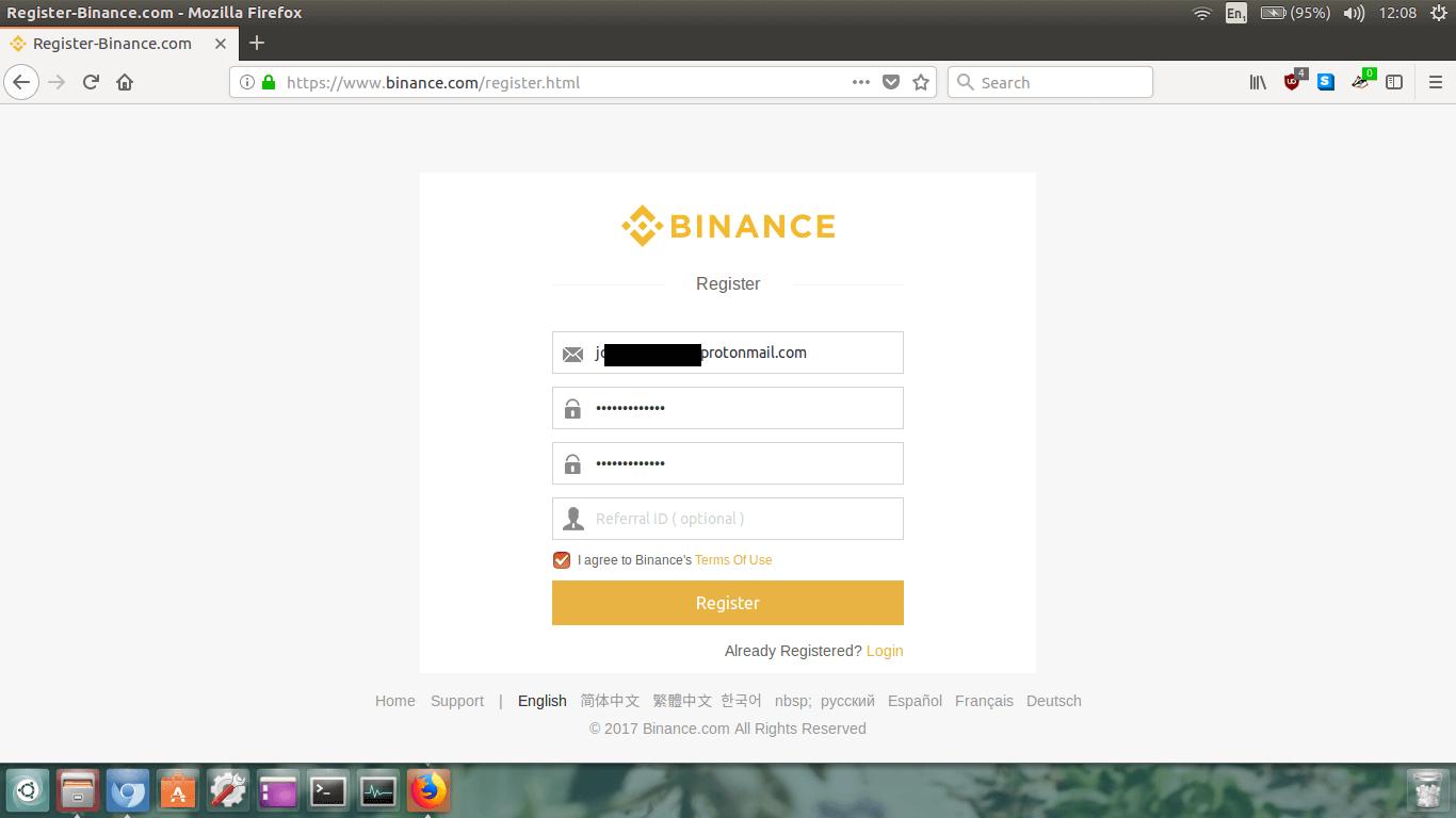 binance payment id