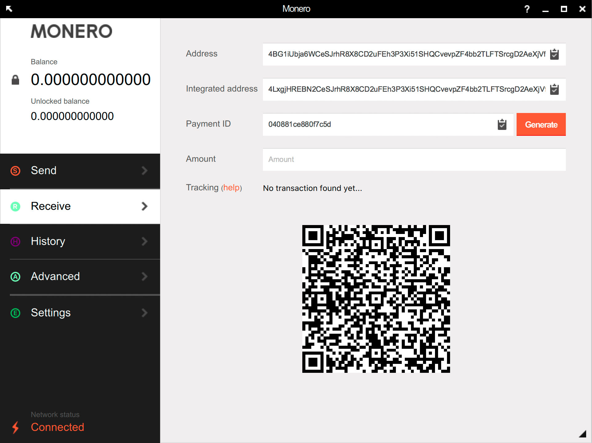 Your Monero Wallet Has A Unique Public Address This Is Referred To As Just In The Screenshot If You Want Someone Send Funds
